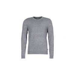 Swetry Jack   Jones  JJEBASIC. Czarne swetry klasyczne męskie marki Jack & Jones, l, z bawełny, z klasycznym kołnierzykiem, z długim rękawem. Za 109,00 zł.