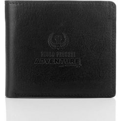 BROOK Czarno-brązowy skórzany męski portfel PAOLO PERUZZI. Brązowe portfele męskie Paolo Peruzzi, ze skóry. Za 79,90 zł.