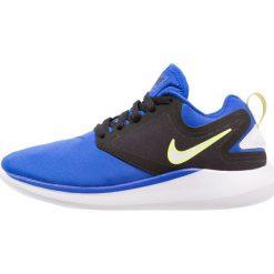 Nike Performance LUNARSOLO  Obuwie do biegania treningowe racer blue/white/black. Czarne buty do biegania damskie marki Nike Performance, z materiału. W wyprzedaży za 288,15 zł.