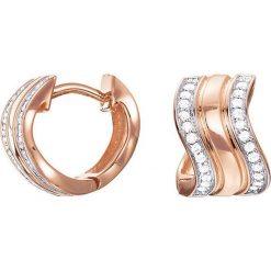 Biżuteria i zegarki: Powlekane kolczyki-kreole z cyrkoniami
