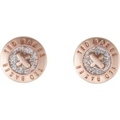 Biżuteria i zegarki: Ted Baker EISLEY ENAMEL MINI BUTTON EARRING Kolczyki rosegoldcoloured/silver glitter