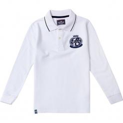 Koszulka polo w kolorze białym. Białe t-shirty chłopięce marki Polo Club Women & Kids, z haftami, z bawełny. W wyprzedaży za 173,95 zł.