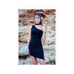 Czarna asymetryczna sukienka Chocker. Czarne sukienki asymetryczne WOW, na co dzień, xl, eleganckie, z asymetrycznym kołnierzem. Za 220,00 zł.