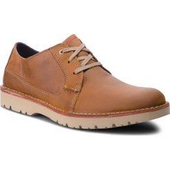 Półbuty CLARKS - Vargo Plain 261366767 Dark Tan Leather. Brązowe półbuty skórzane męskie Clarks. W wyprzedaży za 259,00 zł.