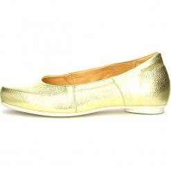 """Skórzane baleriny """"Foi"""" w kolorze złotym. Żółte baleriny damskie marki Think!. W wyprzedaży za 217,95 zł."""