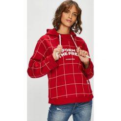 G-Star Raw - Bluza. Czerwone bluzy z kapturem damskie marki G-Star RAW, l, z bawełny. W wyprzedaży za 379,90 zł.