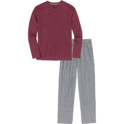 Piżama bonprix bordowo-szary melanż. Czerwone piżamy męskie bonprix, l, melanż. Za 37,99 zł.