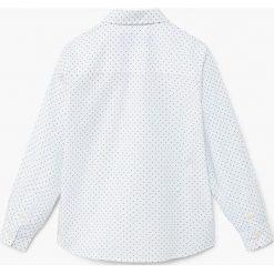 Mango Kids - Koszula dziecięca Damian2 104-164 cm. Szare koszule chłopięce z długim rękawem Mango Kids, z bawełny, z klasycznym kołnierzykiem. W wyprzedaży za 39,90 zł.