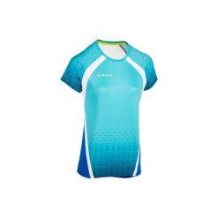 Koszulka do siatkówki V500 damska zielona. Czarne t-shirty damskie marki KIPSTA, z poliesteru, do piłki nożnej. Za 49,99 zł.