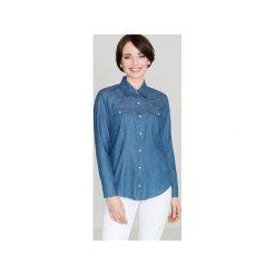 Koszula K171 Niebieski. Szare koszule damskie marki Lenitif, l. Za 99,00 zł.