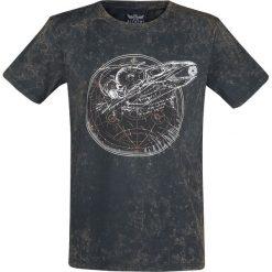 T-shirty męskie z nadrukiem: Alchemy England An Eye for an Eye T-Shirt ciemnobrązowy