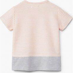 Mango Kids - Top dziecięcy Linda 62-80 cm. Szare bluzki dziewczęce bawełniane marki bonprix, m, melanż, z kontrastowym kołnierzykiem. W wyprzedaży za 29,90 zł.