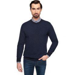 Sweter granby półgolf granatowy. Niebieskie swetry klasyczne męskie Recman, na zimę, m, z aplikacjami, z jeansu, z golfem. Za 29,99 zł.