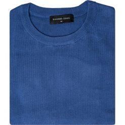 Sweter EDMONDO SWNR000215. Niebieskie swetry klasyczne męskie Giacomo Conti, na jesień, m, z bawełny. Za 149,00 zł.