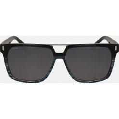 Niebieskie czarne okulary przeciwsłoneczne męskie. Czarne okulary przeciwsłoneczne męskie aviatory Kazar, z tworzywa sztucznego. Za 349,00 zł.