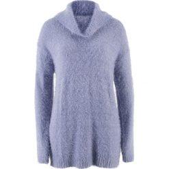 Swetry oversize damskie: Sweter oversize z przędzy z długim włosem bonprix jasny lawendowy