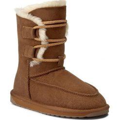 Buty EMU AUSTRALIA - Lebrina W11556 Chestnut. Czarne buty zimowe damskie marki EMU Australia, ze skóry, na niskim obcasie. W wyprzedaży za 439,00 zł.