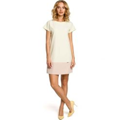 Pastelowa Prosta Mini Sukienka - Żółty. Czarne sukienki mini marki bonprix, do pracy, w paski, biznesowe, moda ciążowa. Za 105,90 zł.
