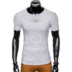T-shirty męskie: T-SHIRT MĘSKI Z NADRUKIEM S950 - SZARY