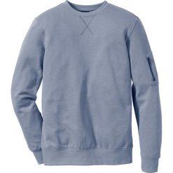 Bluza dresowa Slim Fit bonprix matowy niebieski. Niebieskie bejsbolówki męskie bonprix, m, z dresówki. Za 37,99 zł.