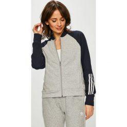 Adidas Performance - Bluza. Szare bluzy z kieszeniami damskie marki adidas Performance, l, z nadrukiem, z bawełny, bez kaptura. Za 249,90 zł.