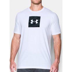 Under Armour Koszulka męska Camo Boxed Logo SS biała r. M (1297954-100). Białe koszulki sportowe męskie marki Adidas, l, z jersey, do piłki nożnej. Za 76,62 zł.