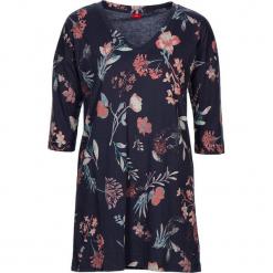 """Koszula nocna """"Flower Dreams"""" w kolorze granatowym ze wzorem. Białe koszule nocne i halki marki LASCANA, w koronkowe wzory, z koronki. W wyprzedaży za 81,95 zł."""