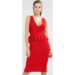 Sukienki hiszpanki: WAL G. RUFFLE WAIST MIDI DRESS Sukienka koktajlowa red