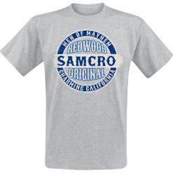 T-shirty męskie z nadrukiem: Sons Of Anarchy Blue Original T-Shirt odcienie szarego