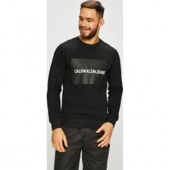 Calvin Klein Jeans - Bluza. Czarne bejsbolówki męskie Calvin Klein Jeans, l, z nadrukiem, z bawełny, bez kaptura. Za 399,90 zł.
