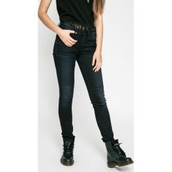 G-Star Raw - Jeansy 3301 High Skinny. Niebieskie jeansy damskie rurki marki G-Star RAW, z aplikacjami, z bawełny. W wyprzedaży za 299,90 zł.