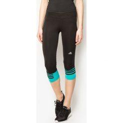 Adidas Legginsy Response 3/4 czarno-niebieskie r. XS (AI8290). Czarne legginsy sportowe damskie marki Adidas, xs. Za 65,63 zł.