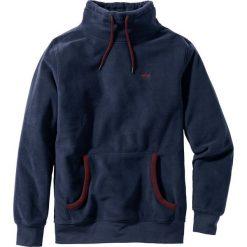 Bluza z polaru z kapturem Regular Fit bonprix ciemnoniebieski. Niebieskie bejsbolówki męskie bonprix, l, z polaru, z kapturem. Za 69,99 zł.