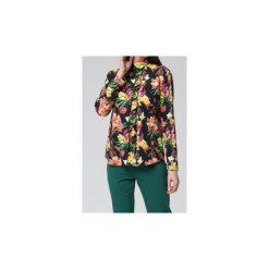 Bluzki asymetryczne: Koszule Mosali  Bluzka M037 Ciemny Print