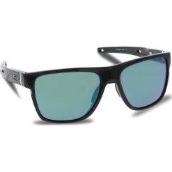 Okulary przeciwsłoneczne OAKLEY - Crossrange Xl OO9360-0258 Polished Black/Jade Iridium. Czarne okulary przeciwsłoneczne męskie aviatory Oakley, z tworzywa sztucznego. W wyprzedaży za 549,00 zł.
