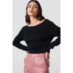 Rut&Circle Sweter Quini - Black. Czarne swetry oversize damskie Rut&Circle, z dzianiny. Za 121,95 zł.