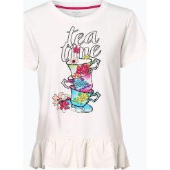 Marc Cain Collections - T-shirt damski, beżowy. Brązowe t-shirty damskie Marc Cain Collections, z nadrukiem. Za 659,95 zł.