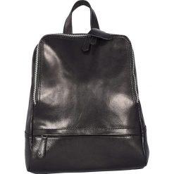 Plecaki damskie: Skórzany plecak w kolorze czarnym – 26 x 30 x 8 cm
