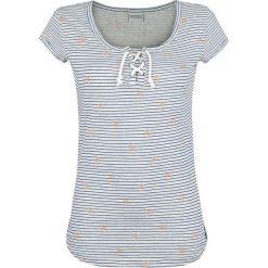 Bluzki asymetryczne: Stitch and Soul Stripes Koszulka damska szary