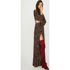Answear - Sukienka. Szare długie sukienki ANSWEAR, na co dzień, l, z tkaniny, casualowe, z długim rękawem, rozkloszowane. Za 299,90 zł.