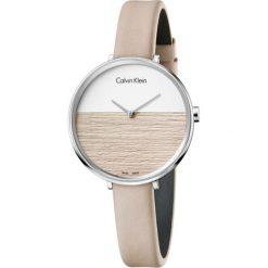 ZEGAREK CALVIN KLEIN RISE BEIGE K7A231XH. Brązowe zegarki damskie marki Calvin Klein, szklane. Za 949,00 zł.