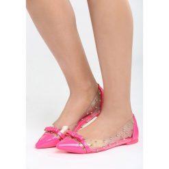 Fuksjowe Balerinki Gotta Make It. Różowe baleriny damskie Born2be, z lakierowanej skóry, na obcasie. Za 59,99 zł.