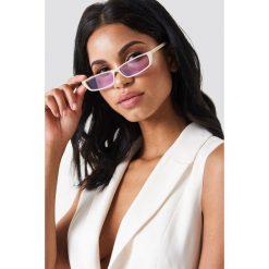Okulary przeciwsłoneczne damskie: NA-KD Trend Prostokątne okulary przeciwsłoneczne – Purple