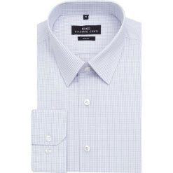 Koszula SIMONE KDFS000120. Fioletowe koszule męskie na spinki marki Giacomo Conti, m, w kratkę, z bawełny, z klasycznym kołnierzykiem. Za 169,00 zł.