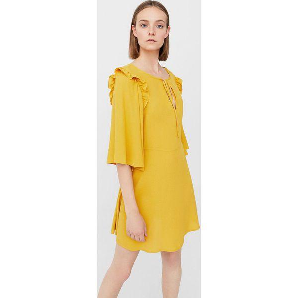 e1de64ce6d1459 Mango - Sukienka Lavandi - Szare sukienki damskie Mango, na co dzień ...