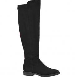Kozaki damskie Graceland czarne. Czarne buty zimowe damskie Graceland, z materiału, na obcasie. Za 159,90 zł.