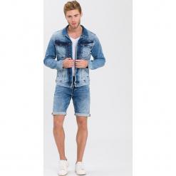 Kurtka dżinsowa - Slim fit - w kolorze błękitnym. Niebieskie kurtki męskie marki GALVANNI, l, z okrągłym kołnierzem. W wyprzedaży za 136,95 zł.