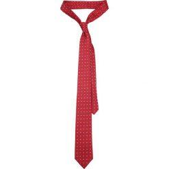 Krawat Czerwony Wzór Geometryczny. Czerwone krawaty męskie LANCERTO, w geometryczne wzory, eleganckie. Za 139,90 zł.