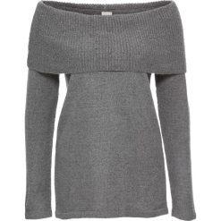 Swetry klasyczne damskie: Sweter z odkrytymi ramionami bonprix szary melanż