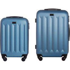 Zestaw walizek Benelux 20/24 Mała/Średnia niebieskie. Niebieskie walizki marki VIP COLLECTION, małe. Za 487,55 zł.